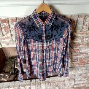 Free People Women's Button Down Shirt